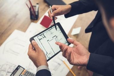 Floor plan for commercial building