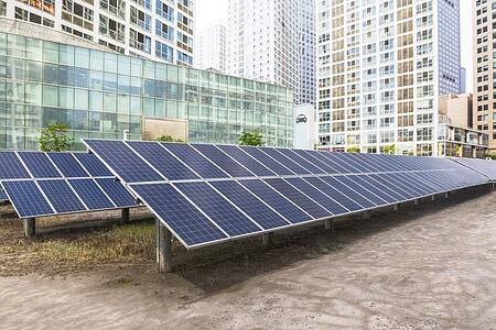 Solar powered metal building roof