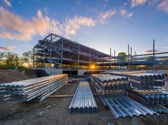 Steel building job site | Metal Building Erectors