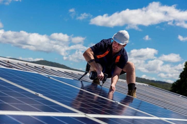 Solar energy panels for steel building construction